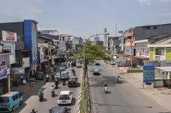 Stadtzentrum der Stadt von Makassar, Indonesien Stockbild