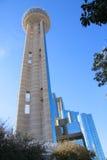 Stadtzentrum des Wiedervereinigung-Kontrollturms innen von Dallas Stockfotografie