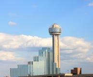 Stadtzentrum des Wiedervereinigung-Kontrollturms innen von Dallas Lizenzfreies Stockfoto