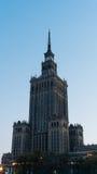 Stadtzentrum mit Palast der Kultur und der Wissenschaft Stockbilder