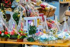 Stadtzentrum Opole Polen Weihnachtsmarkt Lizenzfreies Stockfoto