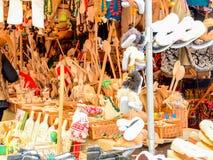 Stadtzentrum Opole Polen Weihnachtsmarkt Lizenzfreie Stockfotos