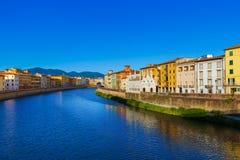 Stadtzentrum in Pisa Italien Stockbild