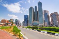 Stadtzentrum von Abu Dhabi, UAE Lizenzfreies Stockbild