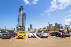 Stadtzentrum von Abu Dhabi, UAE Lizenzfreie Stockfotografie