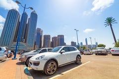 Stadtzentrum von Abu Dhabi, UAE Lizenzfreie Stockfotos