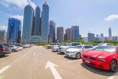 Stadtzentrum von Abu Dhabi, UAE Stockfoto