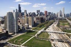 Stadtzentrum von Chicago Lizenzfreies Stockfoto