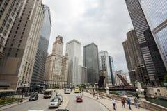 Stadtzentrum von Chicago Stockfotografie