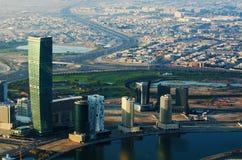 Stadtzentrum von Dubai (Vereinigte Arabische Emirate) Stockfotografie