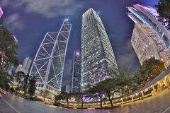Stadtzentrum von Hong Kong, China Lizenzfreies Stockfoto