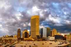 Stadtzentrum von Indianapolis Stockfotos