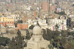 Stadtzentrum von Kairo gesehen von Saladin Citadel, Ägypten Stockbild