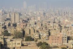 Stadtzentrum von Kairo gesehen von Saladin Citadel, Ägypten Lizenzfreies Stockfoto