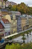 Stadtzentrum von Karlovy Vary stockbilder