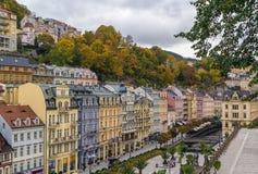 Stadtzentrum von Karlovy Vary lizenzfreie stockfotografie