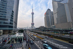 Stadtzentrum von Shanghai Stockbilder