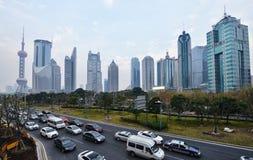 Stadtzentrum von Shanghai Stockfotografie