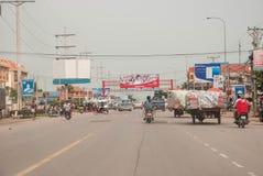 Stadtzentrum von Siem Reap, Kambodscha Stockfotos