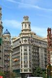 Stadtzentrum von Valencia lizenzfreies stockbild