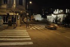 Stadtzentrum während der Nacht Lizenzfreies Stockbild