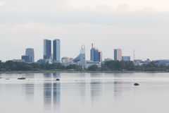 Stadtzentrumansicht Tallinns moderne Lizenzfreie Stockfotografie