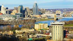 Stadtzentrumszene Cincinnatis, Ohio stockbild
