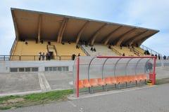 Football stadium. The coverage of the tributes of the Italian football stadium stock photography