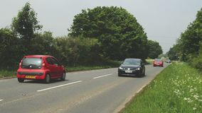 Stady traffic on a country road stock footage