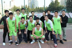 THE staff basketball team in SHENZHEN Stock Image