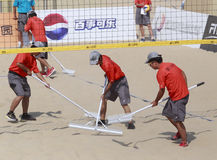 Staff of beach volleyball,xiamen,china Royalty Free Stock Image