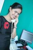 Staff calling Stock Image