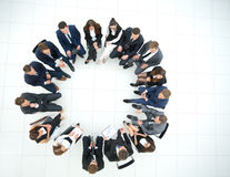 Staff discussing in a formal setting Royalty Free Stock Photography