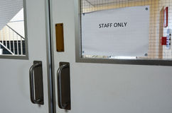 Staff only door sign Royalty Free Stock Photo