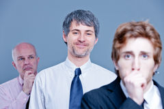 Staff downsizing means cutting jobs Stock Images