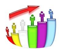 Staff growth bars Stock Photo