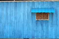 Staff house container blue color. Facet ดรสสะำพ technique look like water color paint. I photo at factory near my house and royalty free stock photography