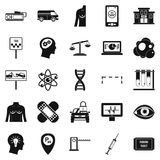 Staff icons set, simple style Stock Image