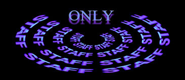 Staff only indicator  Royalty Free Stock Photography