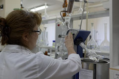 Staff in laboratory Stock Image