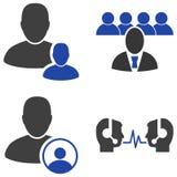 Staff Management Flat Icons Stock Photo