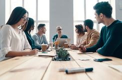 Staff meeting. royalty free stock images