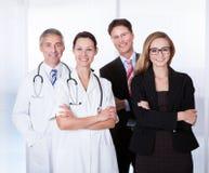 Staff ospedaliero professionale Fotografie Stock Libere da Diritti