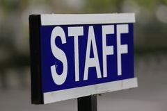 Staff. Plate in the academic Royalty Free Stock Photo