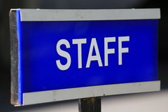Staff. Plate in the academic Royalty Free Stock Photography