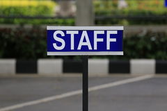 Staff. Plate in the academic institute Stock Photos