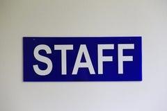 Staff plate Stock Image