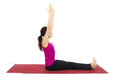 Staff Pose in Yoga stock images