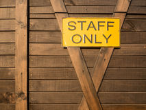 Staff only Royalty Free Stock Images
