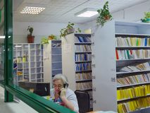 Staff at the reception of Novosibirsk Health Center Stock Image